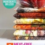 Seven Meat Free Slow Cooker Freezer Meals with 10 Ingredients or Less