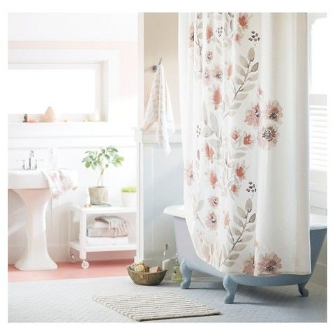 17 Best Ideas About Coral Shower Curtains On Pinterest