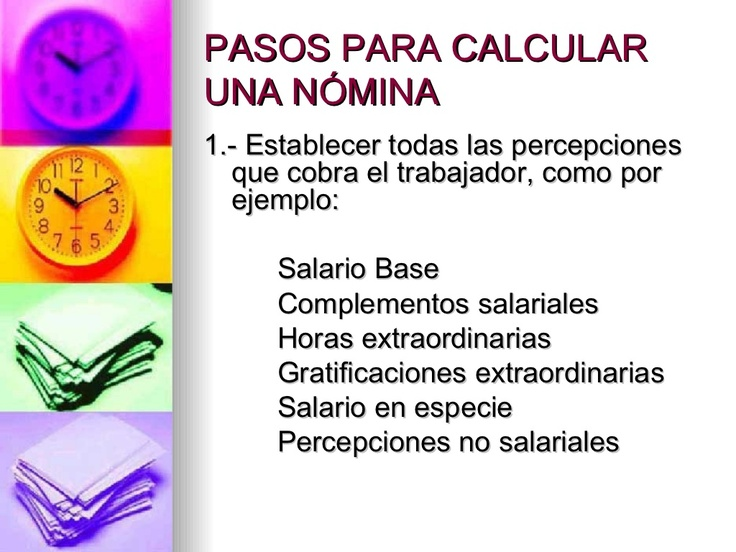 pasos-para-calcular-una-nmina by Carolina Glez via Slideshare