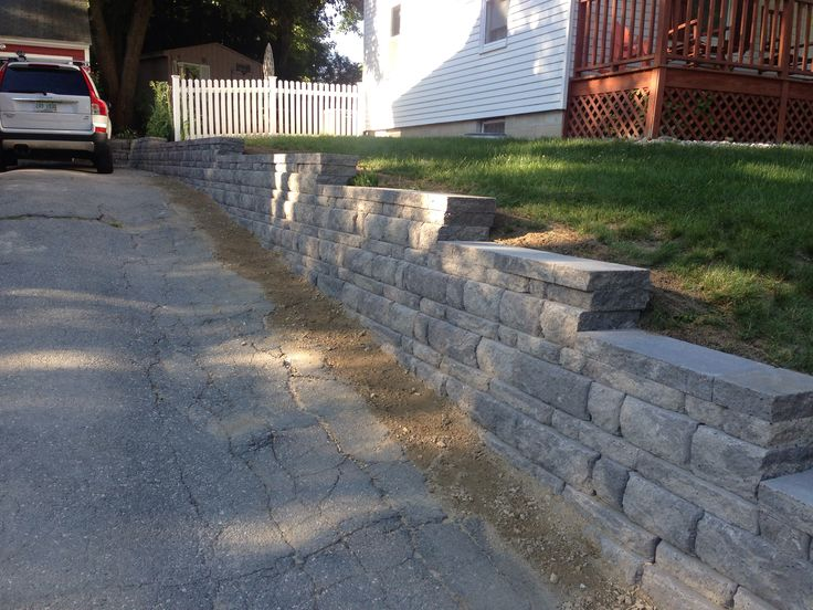 17 best images about split level remodel on pinterest for Sloped driveway options