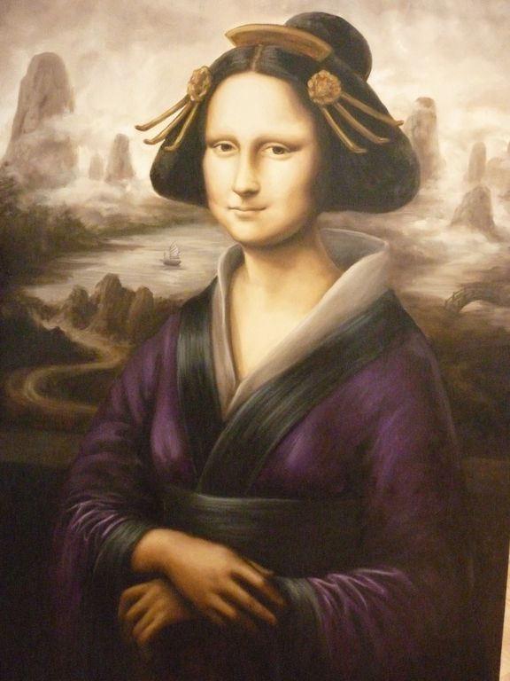 La Mona Geisha [Elena Velasco Aresté] (Gioconda / Mona Lisa)