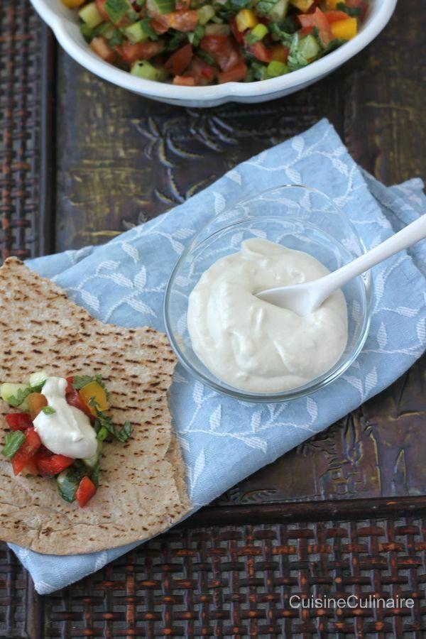 Sauce tahini pour salade israélienne