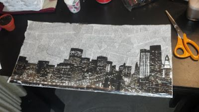 Newspaper Decoupage Artwork #DIY #Craft