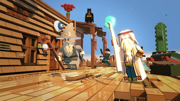 Gandalf, left, is also in the Lego Movie video game (Photo: Warner Home Video Games)