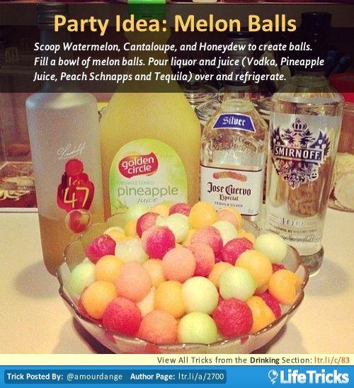 Drinking - Party Idea: Melon Balls