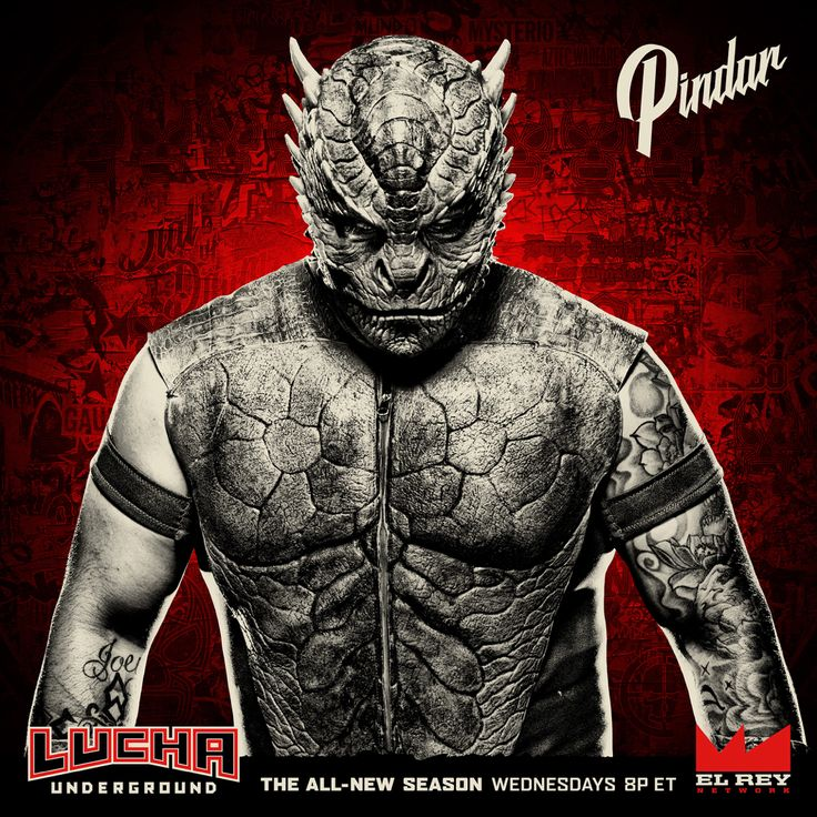 A cold blooded warrior has arrived to the Temple. Watch Pindar on #LuchaUnderground, Wednesdays at 8p ET on @ElReyNetwork!
