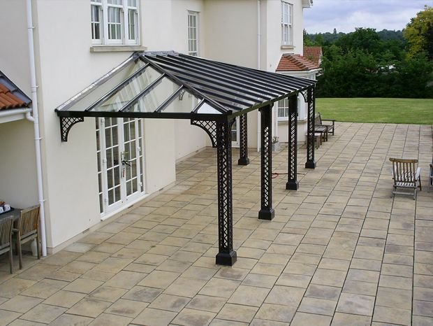 a large hipped l shaped lattice style verandah near bristol
