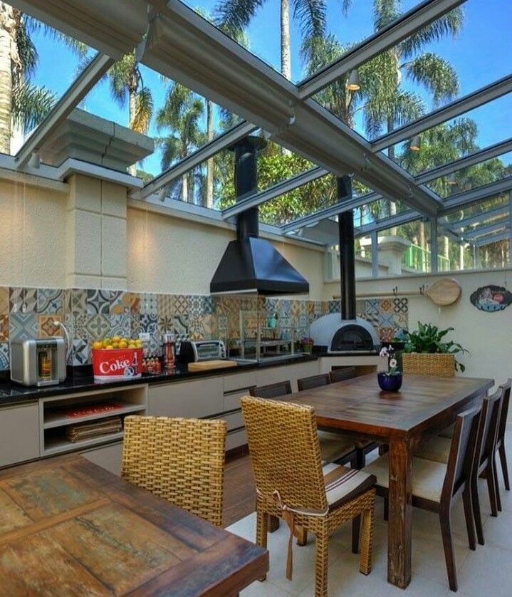 Home Design, Pizza, Future Home, Hydraulic Tile, Table, Study, Gourmet  Balcony, Form, Barbecue Grill Part 93