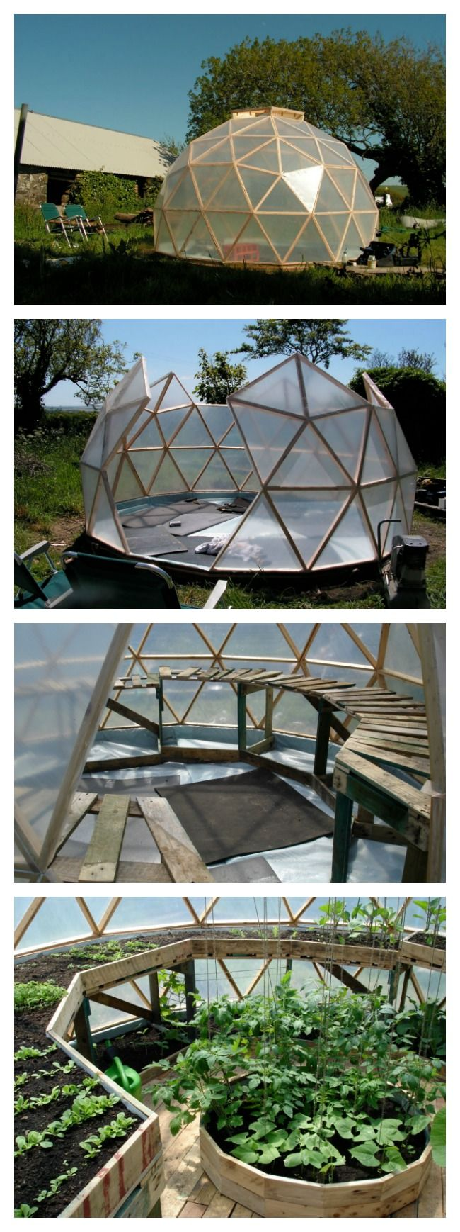 Best 25 dome greenhouse ideas that you will like on for Geodesic greenhouse plans free