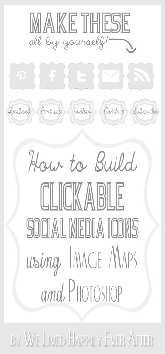 We Lived Happily Ever After: How to make your own Clickable Social Media Icons (Using Image Maps and Photoshop)