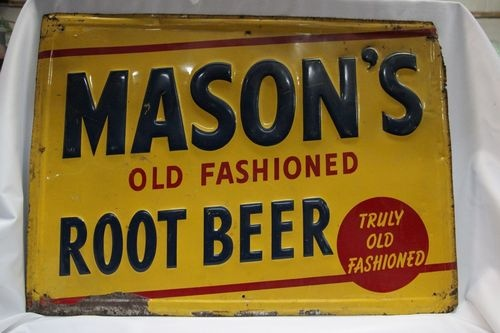 Masons Old Fashioned Root Beer Sign