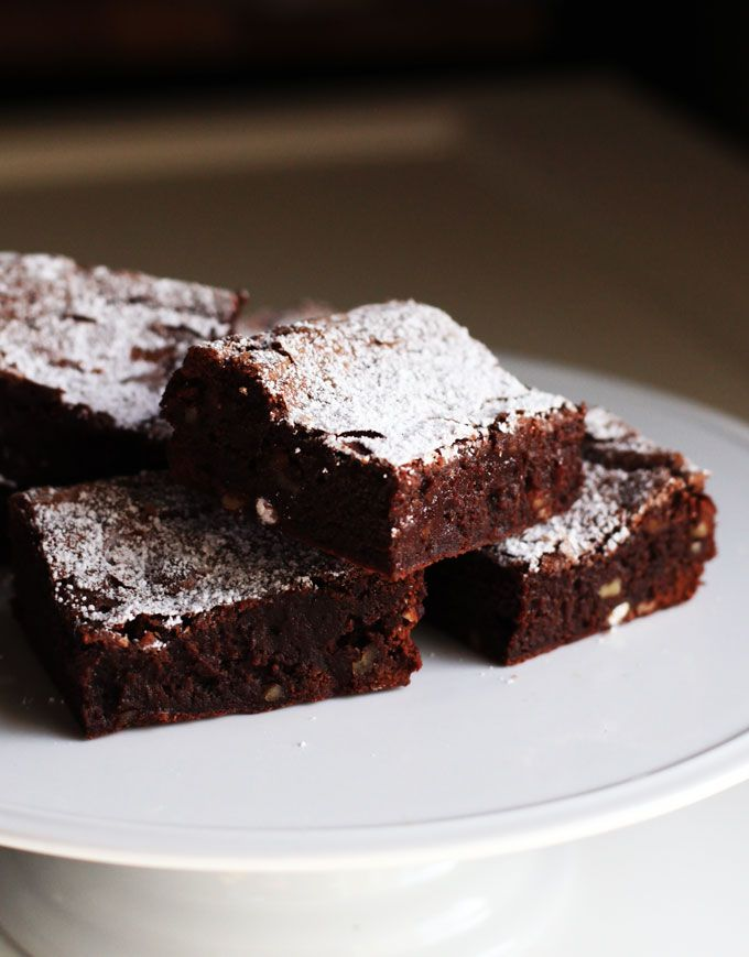 Decadent fudge brownies ingredients 8 ounces semi sweet for 6 tablespoons butter