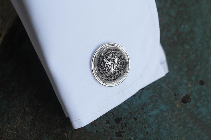 A nice story for Valentine's Day: a loving wife showers her husband with superb 19.2ct white gold #cufflinks with filigree. He loved them the minute he opened the white box. #EXCEPTIO, a story behind every cufflink...