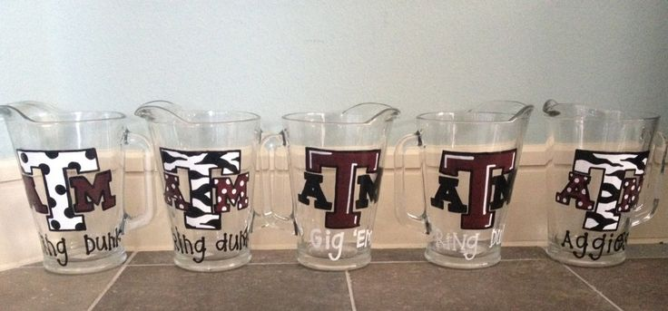 Aggie Ring Dunk Pitchers by thatssonif on Etsy