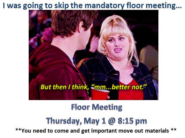 RA Floor Meeting Sign