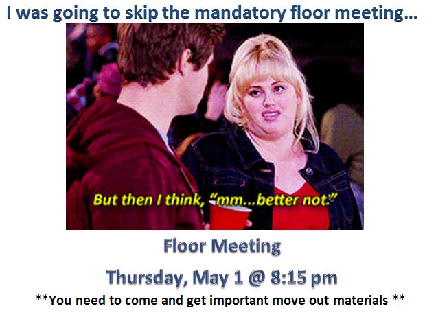 ra floor meeting sign
