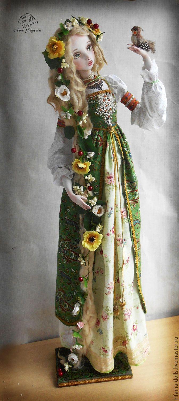 Купить Леля - ярко-зелёный, весна, коллекционная кукла, ручная работа, русская, славяне