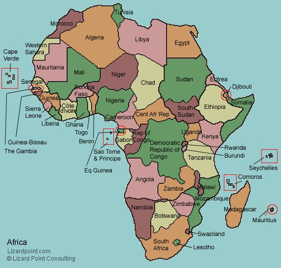 AFRICA MAP QUIZ | World Map Of İmages