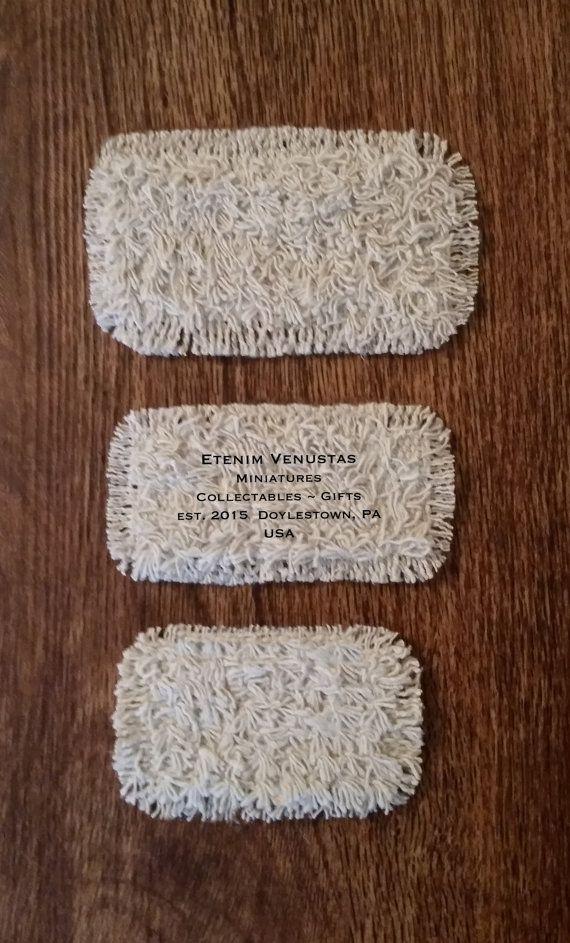 Miniature Rug  Set of 3 Woven Fluffy Rugs  by EtenimVenustas