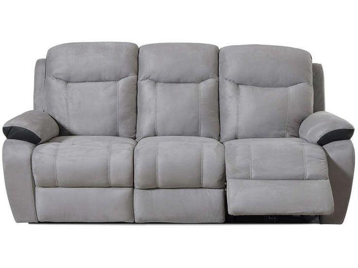 canape relax lectrique 3 places bradley coloris blanc