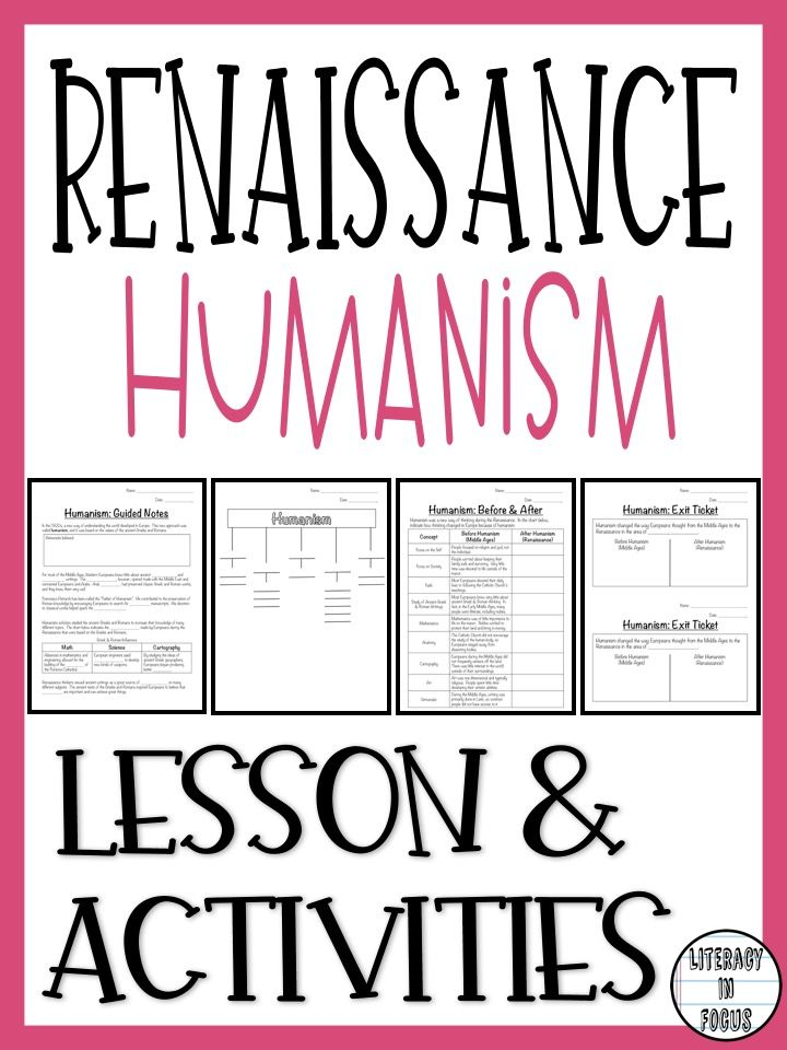 Humanism guided notes.  Renaissance humanism lesson. #humanism #worldhistory #renaissance