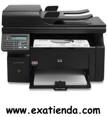 Ya disponible Multif. HP laserjet m1212nf  monocromo             (por sólo 187.85 € IVA incluído):   -Tipo de dispositivo:Impresora, copia, escáner, fax -Tecnología:Lasér monocromo -IMPRESORA -Velocidad de impresión:Hasta 18 ppm -Tipos de papel:A4/A5/ISO B5/ISO C5/ISO C5/6/ISO C6/ISO DL/ 16K/Tarjeta europea -Capacidad de las bandejas de salida:100 hojas boca abajo -Display:LCD 2 líneas -ESCANER: -Resolución:Hasta 1200 ppp -FAX:SI -Conexión PC: Puerto USB 2.0 de alt
