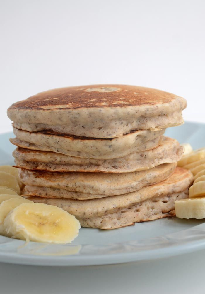 Vegan Chia Seed Pancakes 1½ cups all-purpose flour 1 tbsp baking powder 1 tsp salt 3 tbsp chia seeds 1 tsp cinnamon 3 tbsp maple syrup 1 tsp vanilla 1½ cup almond milk 1 tsp apple cider vinegar