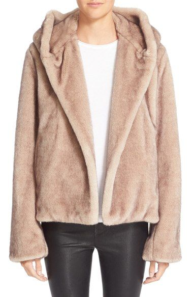 Helmut Lang Faux Fur Hooded Coat available at #Nordstrom