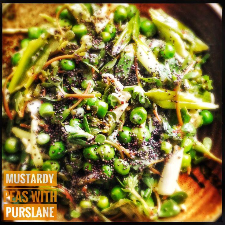 Peas with Purslane and Mustard