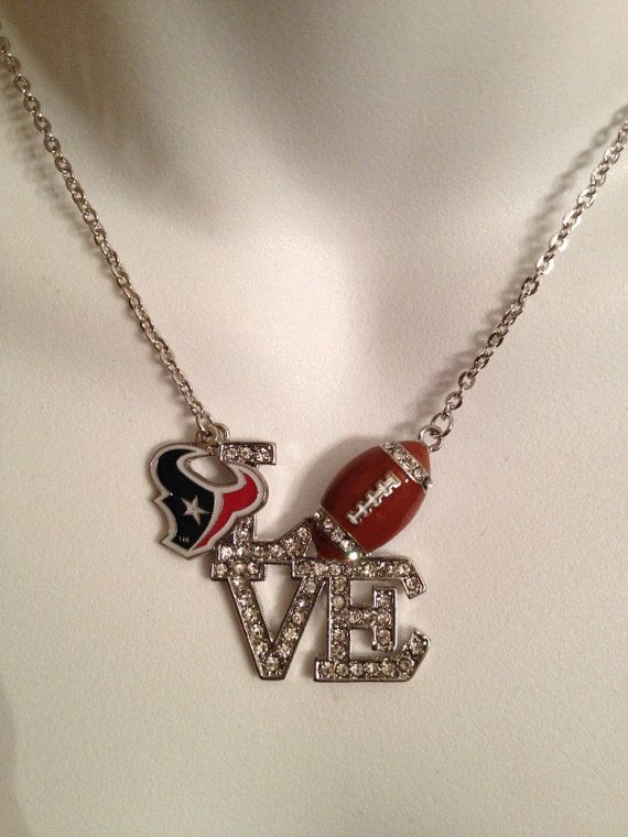 Houston+Texans+necklace+by+Beckyschunkystuff+on+Etsy,+$23.00