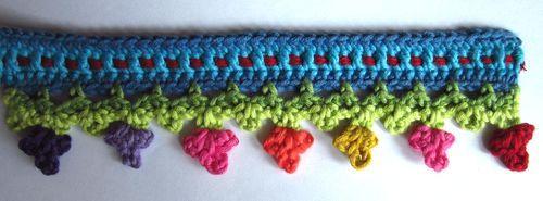 Lucy's crochet trim at Attic24: Crochet Ideas, Crochet Models, Crochet Flower, Crochet Tutorials, Crochet Trim, Crochet Edging, Crochet Border, Decor Crochet, Crochet Pattern