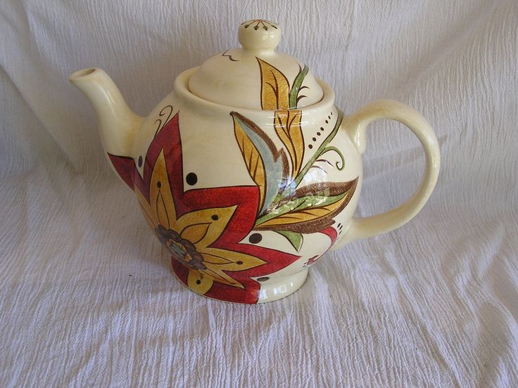 Pier 1 Imports Carynthum Handpainted Earthenware Tuscan Floral Teapot Tea Pot | eBay & 8 best Pier one carynthum images on Pinterest | Dinner ware ...