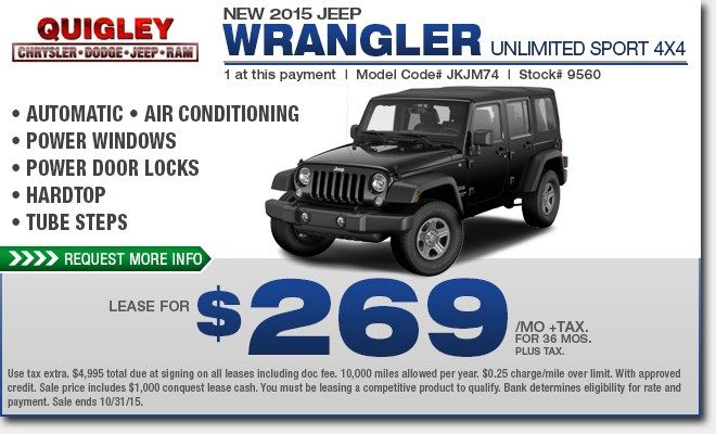 Awesome Jeep Wrangler For Lease Deals