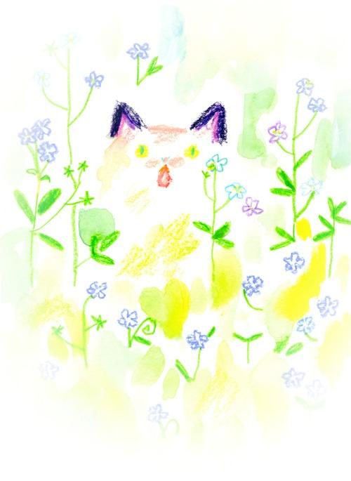 なかちえりさんの猫イラストです。  http://www.nagomitime.com/animal/index.html