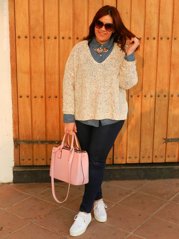 Camisa Denim Plus Size · Outfit