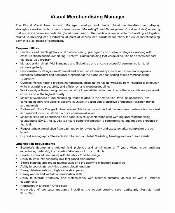 Visual Merchandiser Job Description Resume Beautiful Sample Merchandiser Job Description Template Visual Merchandising Jobs Teaching Assistant Job Description