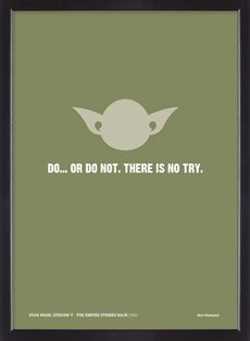 Star Wars film quote limited edition silkscreen poster
