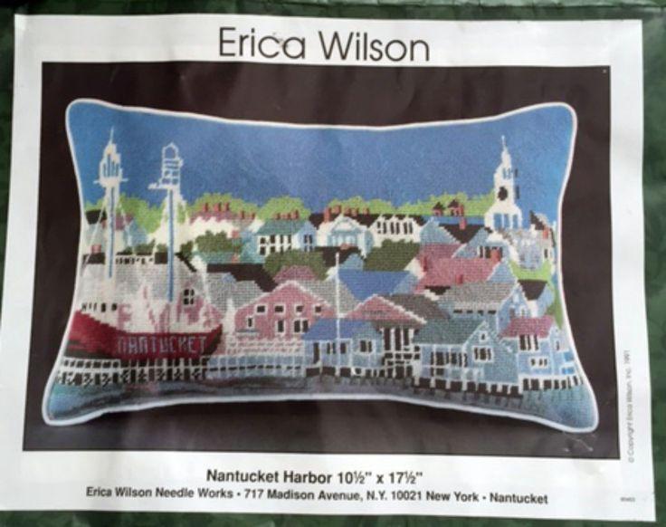 Erica Wilson Nantucket Harbor Plastic Canvas Needlepoint Kit 10 x 16 Nautical Vintage 1994