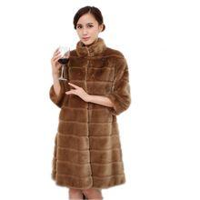 Güz kış standı yaka sıcak faux kürk ceket kadınlar için, kadın giysileri ile kürk, artı boyutu kadın yapay tavşan kürk mantolar(China (Mainland))