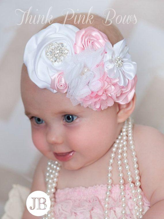 Baby headbandPink  baby headband baby headbands by ThinkPinkBows, $12.95
