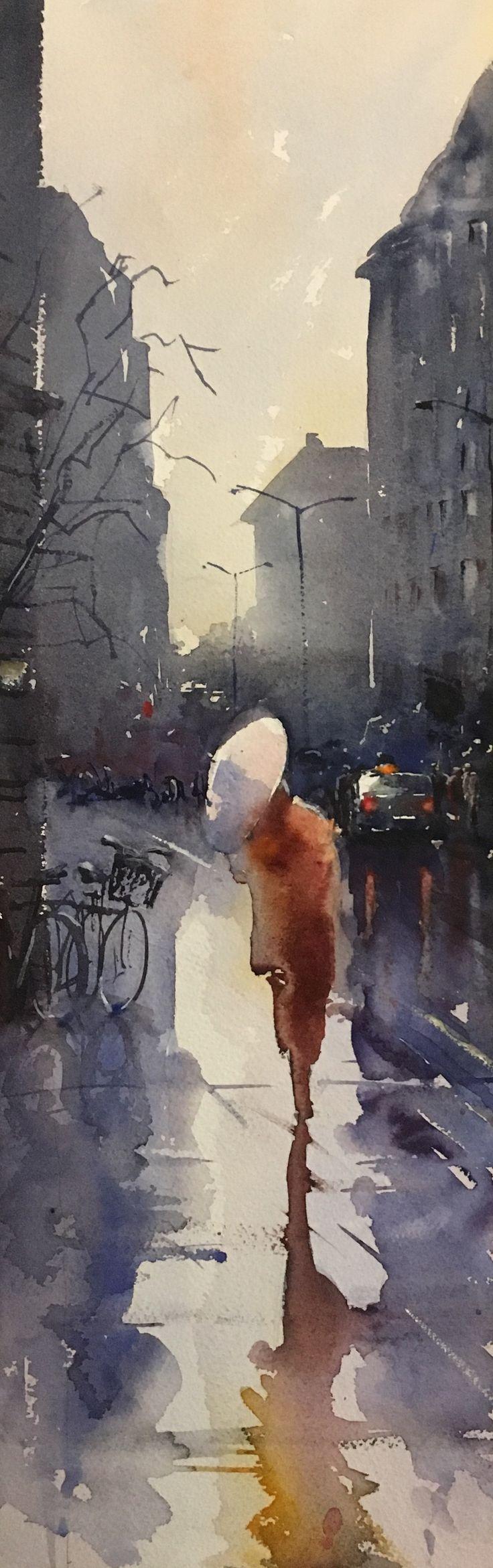 watercolour, Stefan Gadnell, SOLD