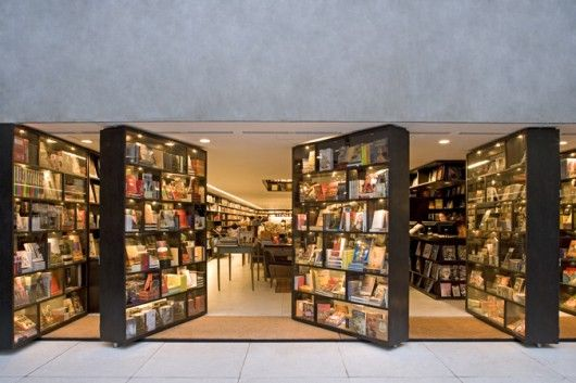 Livraria da Vila by Isay Weinfeld at Lorena Lane, 1731 in Sao Paulo is a bookstore with a very nice selection of art books.