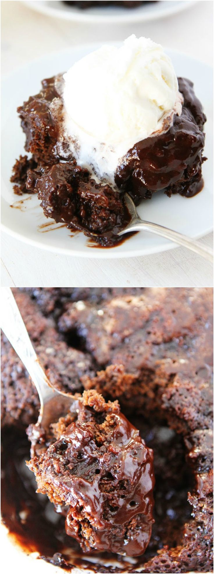 Chocolate Pudding Cake Recipe on twopeasandtheirpod.com This decadent chocolate cake is so easy to make! It is a favorite dessert at our house!