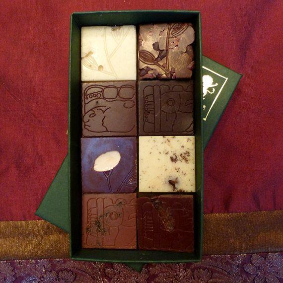 Chocolade Bar PROEVERIJ KIT  8 kwadraten door DancingLionChocolate
