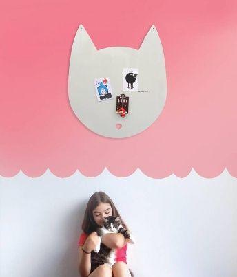 Wonderwall Magneetbord 'Kat'