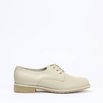 KMB X866 Brogue Style Perforated Lace Up Hielo Leather