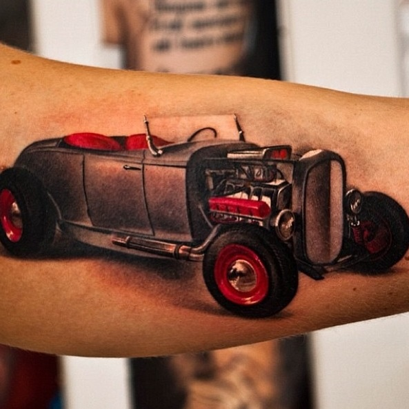 17 best images about tattoos on pinterest car images for Hot rod tattoos