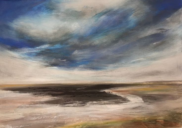 Buy Blustery day, Holkham bay, Mixed Media painting by Amanda Lakin on Artfinder. Discover thousands of other original paintings, prints, sculptures and photography from independent artists.