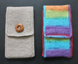 Telefoonhoesje haken | draadenpapier #haken #hoes #tunisch #crochet #cozy
