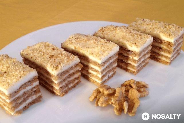 Vynikajúci sviatočný dezert alebo pochúťka ku kávičke, vďaka ktorej váš deň bude o niečo krajší a príjemnejší. Orechové rezy sa tiež skvele hodia na váš sviatočný stôl. ingrediencie: cesto: 6 vaječných bielkov 200 g mletých vlašských orechov 200 g kryštálového cukru štipka mletej škorice štipka soli krém: 400 ml mlieka 1 bal. vanilkového pudingu 150 g masla 100 g práškového